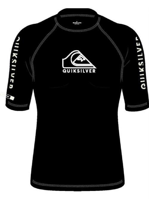 QUIKSILVER MENS RASH VEST.NEW ON TOUR UPF50+ BLACK TOP RASHGUARD T SHIRT S20 30